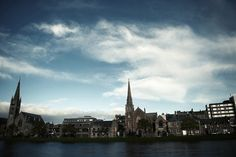 A special view from the riverside in Inverness