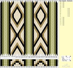 34 cards, 5 colors, repeats every 14 rows, Bunad, Smykker, vev & rosemaling: Brikkevev