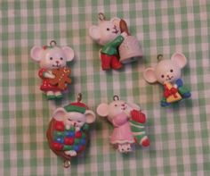 Excited to share the latest addition to my #etsy shop: Cute Miniature Mice Christmas Ornaments 5 Ornament Lot Tiny Mouse Collection http://etsy.me/2z0Sqe1 #housewares #homedecor #gray #brown #teamwwes #cuteness #miniature #tinymouse #miniatureornaments