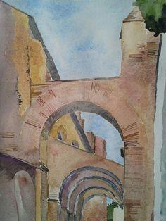 #clivodiscauro#roma#celimontana www.watercoloursundayman.blogspot.com