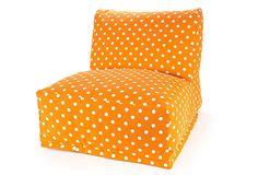 Beanbag Chair, Tangerine
