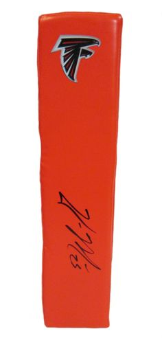 William Moore signed Atlanta Falcons Rawlings football touchdown end zone pylon w/ proof photo.  Proof photo of William signing will be included with your purchase along with a COA issued from Southwestconnection-Memorabilia, guaranteeing the item to pass authentication services from PSA/DNA or JSA. Free USPS shipping. www.AutographedwithProof.com is your one stop for autographed collectibles from Atlanta sports teams. Check back with us often, as we are always obtaining new items.