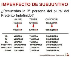 B1/B2 - Un truco para recordar el Pretérito Imperfecto de Subjuntivo.