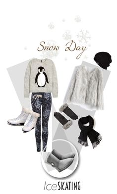 """Ice Skating Style"" by kari-c ❤ liked on Polyvore featuring Chicwish, Dex, UGG Australia, H&M, Lacoste, Echo and iceskatingstyle"