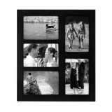 Black 'Linear' Collage Frame - Displays 5 Favorite 4 x 6 Prints