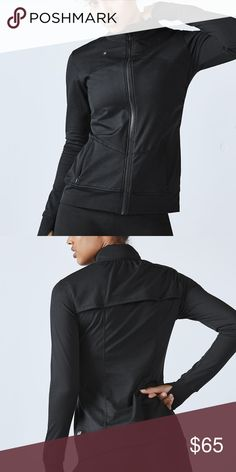 Fabletics Black Kira Jacket S Athletic sports jacket from Fabletics.  NEW WITH TAGS!!!   Kira jacket in black. Back vent, built-in thumbholes, and a media port and pocket. Stand Collar and Hidden Water-Resistant Hood.  Fabric Content: 92% Polyester/8% Elastane  Size small. Fabletics Jackets & Coats