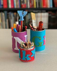 schaeresteipapier: Sew A Softie - Tin Can DIY, Back to School Sewing Tutorials, Sewing Crafts, Diy Crafts, Kindergarten, Labyrinth, Diy Back To School, Small Tins, Disney Rapunzel, Red Felt