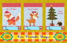 Mira este artículo en mi tienda de Etsy: https://www.etsy.com/es/listing/476544619/printable-gift-cardschristmas-cards-cute