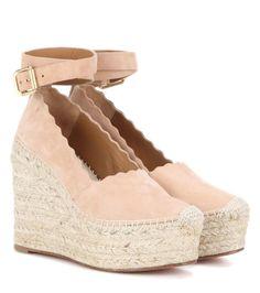 e1e1c2ed7161 CHLOÉ Lauren Suede Wedge Espadrilles.  chloé  shoes  pumps Pink Wedge  Sandals