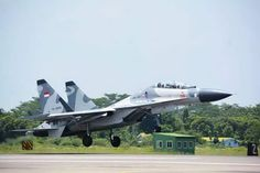 Military and Commercial Technology: Three Indonesian Air Force Sukhoi jet fighters are in Tarakan, North Kalimantan ready to intercept ISIS infiltrators