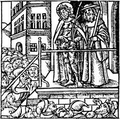 """Rappresentazione dell'Ecce Homo tratta dalle """"Questiones subtilissime"""" di Marsilius de Inghen (1518)"""
