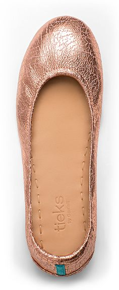 Rose Gold Glam Tieks are the essence of sophistication, and their unique texture makes them the perfect choice for any ensemble!