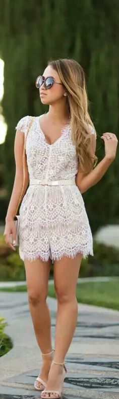 Morning Lavender Lace Romper / Fashion by Lace and Locks