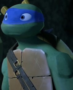 Look at Leo's adorable face with his beautiful blue eyes! Teenage Ninja Turtles, Tmnt Turtles, Tmnt Leo, Leonardo Tmnt, Sr1, Tmnt 2012, Girl Meets World, Cute Faces, Animation