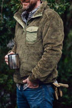 Kodiak Fleece Pullover - Birchwood Green. Medium