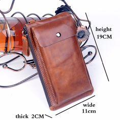 2016 Not New Design Layer Cowhide Wallet Soft Classic Leather Wallet Genuine Leather Casual Day Clutch Bag Leather Gifts, Leather Clutch Bags, Leather Bags Handmade, Leather Case, Leather Wallet, Leather Portfolio, Leather Workshop, Coin Bag, Messenger Bag Men