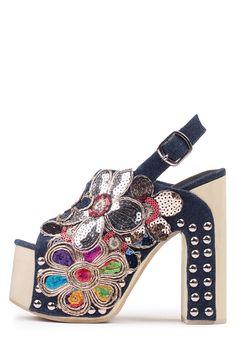 Jeffrey Campbell Shoes EFFIE-HI Shop All in Dark Blue Bright Multi