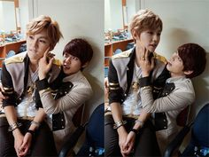 What Minhyuk is doing to Ilhoon is what I'd most likely do to him ha ha.
