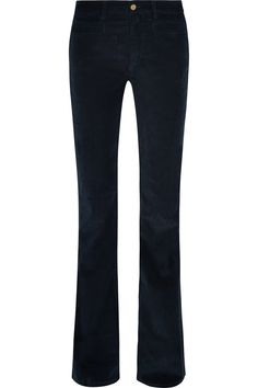 M.I.H JEANS Marrakesh Low-Rise Stretch-Velvet Flared Jeans. #m.i.hjeans #cloth #jeans