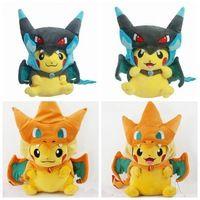 Animales 4 estilos Pokemon Pikachu Cosplay pokémon Charmander juguetes de peluche 25 - 35 CM Pokemon juguetes de felpa peluches peluches juguetes para niños Pokemon muñeca de la felpa