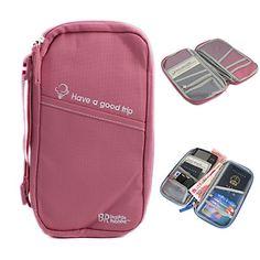 contenitore multifunzionale borsa + titolare del passaporto (rosa) – GBP £ 7.06