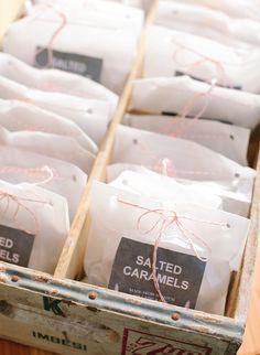 Salted Caramel Wedding Favors /// Photo: Jodi Miller Photography
