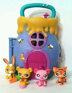 Honey Bear & Friends Lot * OOAK Custom Littlest Pet Shop