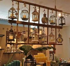 Great idea for lantern collection, maybe even room divider.  outdoor event space?