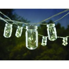 Give an amazing appeal to your outdoor living space by selecting this Hampton Bay Light Plastic Mason Jar Patio String Lights. Starry String Lights, White String Lights, Lantern String Lights, Indoor String Lights, Hanging Lights, Offset Patio Umbrella, Outdoor Patio Umbrellas, Plastic Mason Jars, Mason Jar Diy