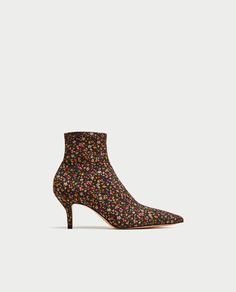 Image 2 of PRINTED HIGH HEEL ANKLE BOOTS from Zara