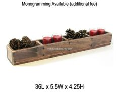 Table Centerpiece Wooden Mantle Decor Wood 4 by BridgewoodPlace, $115.00