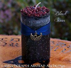 Witchcrafts Artisan Alchemy - BLACK SWAN Pillar Candle (http://www.witchcraftsartisanalchemy.com/black-swan-pillar-candle/)