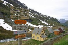 Pictures of - Flam, Myrdal, Rallarvegen roadsign Vaders, Land Of Midnight Sun, Norway Viking, Free Travel, Bergen, Oslo, Vacation Destinations, Travel Pictures, Vikings