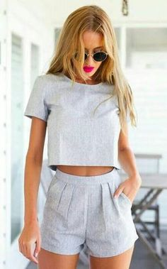 shorts pour femme – Outfit Ideas for Girls Mode Outfits, Casual Outfits, Fashion Outfits, Womens Fashion, Fashion Trends, Casual Ootd, Fashion Ideas, Teen Fashion, Dress Casual