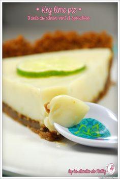La Dinette de Nelly: Key lime pie ... des USA à la Belgique {Tarte au citron vert et speculoos}