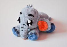 Ganchillo de crochet PATRÓN gris elefante Echo por por Krawka