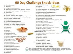 90 day challenge snack ideas