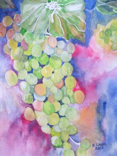 Grapes - I tried this one from another artist's painting that I found on Pinterest. I didn't come close to hers, but had fun with it nevertheless. 2013