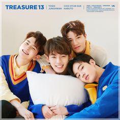 Baby with Hyunsuk hyung, Yoshi hyung and Haruto hyung ❤️❤️ . Yg Entertainment, Lirik Lagu Treasure, Yoshi, Yg Trainee, Hyun Suk, Fandom, Treasure Boxes, Kpop Groups, Teaser