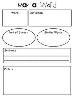 28 Images of Vocabulary Word Graphic Organizer Template | kpopped.com