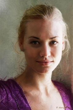 A portrait of Yvonne Strahovski, in my opinion the best actress of her generation. Made with Corel Painter and Adobe Photoshop. Portrait Of Yvonne Portrait Inspiration, Painting Inspiration, Woman Painting, Painting & Drawing, Art Alevel, Yvonne Strahovski, Portrait Sketches, Oil Portrait, Fashion Painting