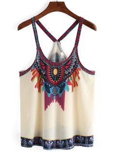 http://es.shein.com/Apricot-Aztec-Print-Chiffon-Cami-Top-p-269680-cat-1779.html