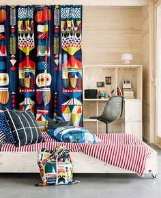 Värikäs makuuhuone, Skammin talo, Asuntomessut 2014