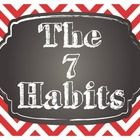 Want a GREAT way to display the 7 Habits of Happy Kids based upon the Leader in Me program? This is a set of chalkboard and chevron themed posters ...