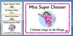 Superhero Themed Characteristics of Effective Learning Display Posters Characteristics Of Effective Learning, New Superheroes, Effective Teaching, Eyfs, Choose Me, Vocabulary, Preschool, Classroom, Display