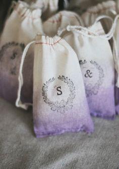 DIY Lavender Ombre Favor Bags | 100 Layer Cake