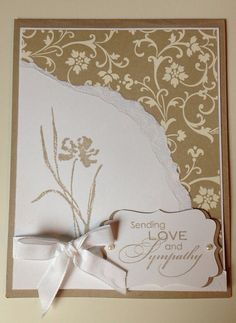 Use already cut borderabilities die and sheet from wedding book for this Sympathy Card