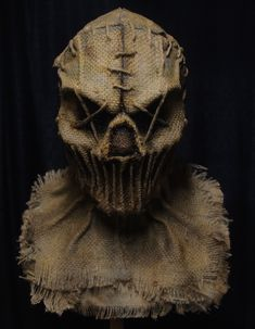 Scarecrow Masks - Grim Stitch Factory - - My handmade Scarecrow masks have been featured in several award-winning films and are worn in countless haunted attractions across the country each year. Scarecrow Mask, Halloween Costumes Scarecrow, Make A Scarecrow, Masque Halloween, Scary Halloween Masks, Creepy Masks, Arte Horror, Horror Art, Arkham Knight Scarecrow