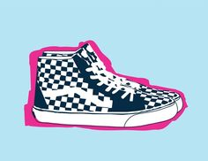 Old School Checkered Vans print / by JWonkie on Etsy