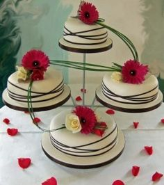 I like the idea of displaying the layers separately somehow . . . the lines around the cakes are fun too.